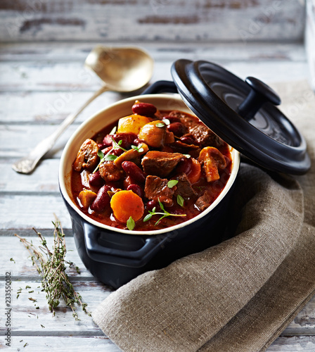 Beef goulash with mushrooms and vegetables Wallpaper Mural