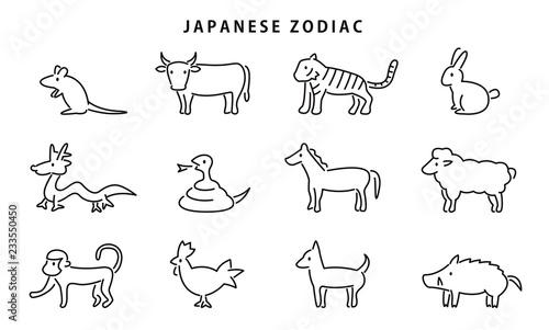 Leinwand Poster 日本の干支