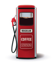 Gas Pump With Coffee Dispenser...