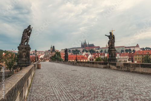 Photo  Charles Bridge in the morning / Charles Bridge in Prague in the morning, Czech R