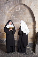 Two Nuns In An Old Convent