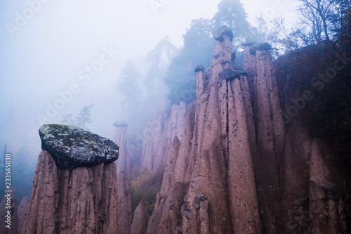 Earth pyramids in Ritten, South Tyrol, Italy
