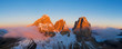 canvas print picture Beautiful Dolomites peaks panoramic view