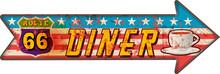 Grunge Route 66 Diner Arrow Gu...