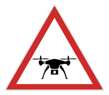 Camera Drone Unmanned Air Vehicle UAV Airplane Reconnaissance Spy Prop Helicopter Silhouette Abstract Warning Road Sign Icon Outdoor Family Activity Fun Area Lifestyle Raster Background