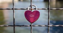 Heart Shaped Padlock On Link F...