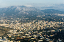 Cabin View Of Athens From The Plane. Panorama Of Athens
