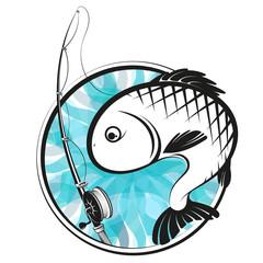 Fototapeta Sport Fish and fishing rod