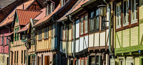 Staande foto Historisch geb. Fachwerkhäuser in Quedlinburg