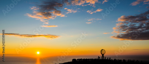Foto op Canvas Noord Europa sun to the north cape
