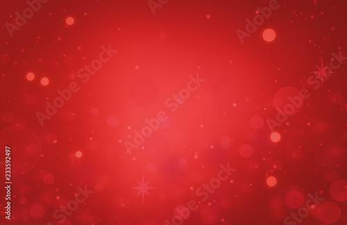 red glitter Abstract texture Christmas background with light bokeh - 233592497