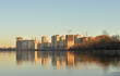 View of Neva River on the outskirts of St. Petersburg.