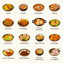 Mexican Food Vector Illustration Set