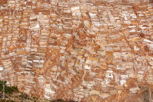 Spoed Foto op Canvas Zuid-Amerika land Salzterrassen