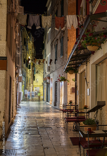 Canvas Prints Narrow alley Historic city center in Split. This is a UNESCO heritage. Croatia