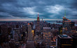new york skyline at nightfall