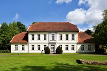 Former Oldenburg District Court Of 1806, Later Seat Of The Office Administration, Dwelling Of The Office Captain And Cadastre Office, Today Outbuilding Of The Cloppenburger Local Court, Cloppenburg, Lower Saxony, Germany, Europe