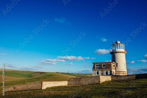Fotografie, Obraz  The Belle Tout Lighthouse located at Beachy Head, East Sussex, United Kingdom wi