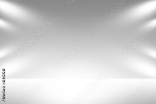 Recess Fitting Light, shadow Product showcase spotlight background. Clean photographer studio.