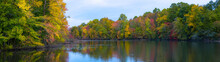 Panorama Of Fall Colors Along ...