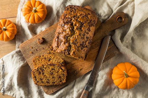 Garden Poster Bread Homemade Chocolate Chip Pumpkin Bread