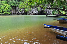 Cabayugan River Flowing Directly Into The Sea. P.P.Subterranean River Nnal.Park-Palawan-Philippines-0764