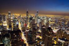Aerial View Of Illuminated Cit...