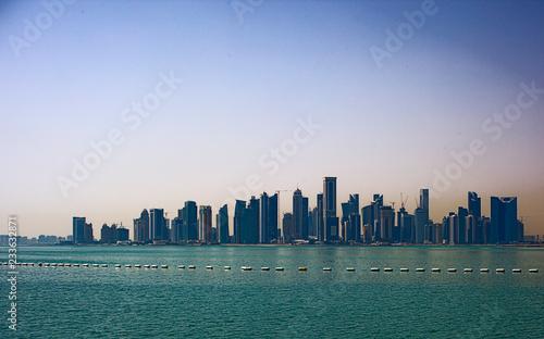 Staande foto Los Angeles Doha new city skyline