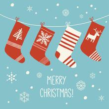 Christmas Socks Background. Va...