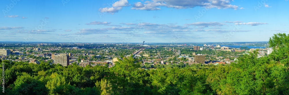 Fototapety, obrazy: Panoramic view of the eastern part of Montreal