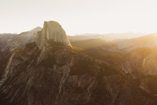 Half Dome In Yosemite National Park At Sunrise