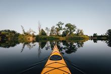 Kayaking At Sunset In Toronto