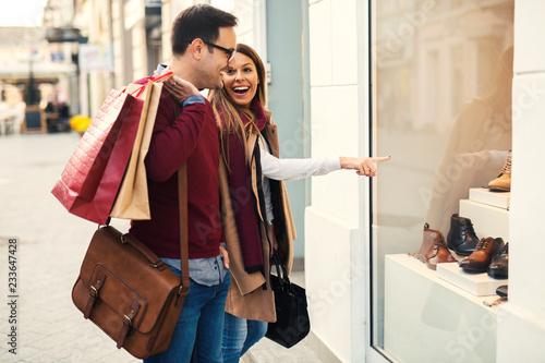 Obraz na płótnie Couple in shopping