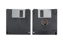 Old Computer Diskette Over Whi...