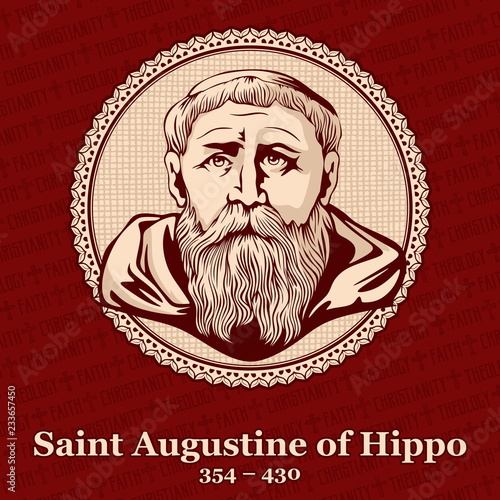 Photo Saint Augustine of Hippo (354 – 430) was a Roman African, early Christian theolo
