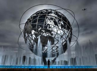 Man Views Unisphere