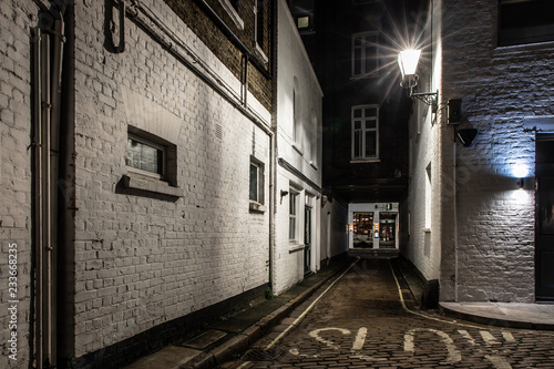 Canvas Prints Narrow alley Backstreet in Marylebone, London