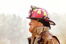 Side View Of Firefighter