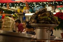 Handcraft Tamales In A Local Market In Oaxaca Mexico