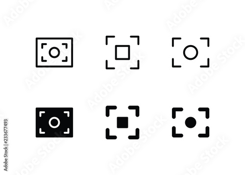 Valokuva  Viewfinder Icon Logo Vector Symbol. Capture Icon