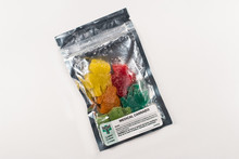 Medical Cannabis Gummies In Colorful Packaging