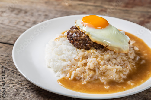 Loco Moco. Traditional Hawaiian cuisine