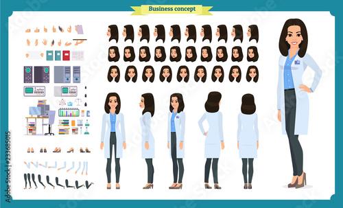 Fotografía  Scientist character creation set