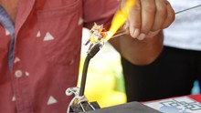 Blowing Glass By Fire To Creat...