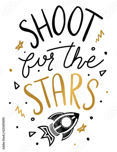 Shoot for the Stars Quote. Kids Inspirational Quotes. Nusery ...