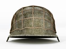 World War II Helmet Isolated O...