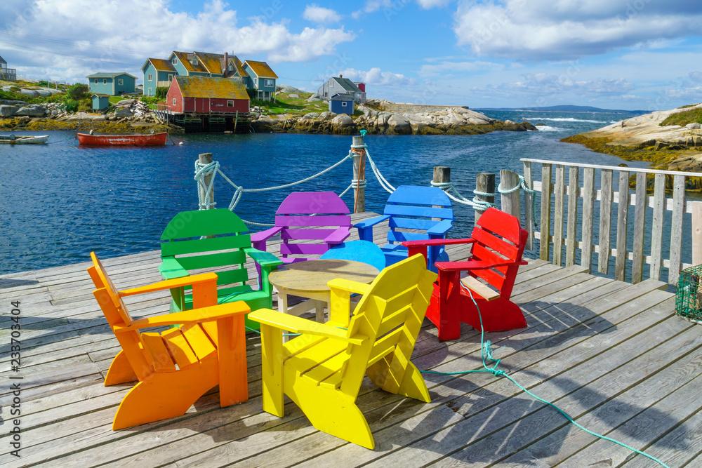Fototapety, obrazy: The fishing village Peggys Cove