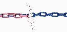 England Flag Chain Broken Brex...