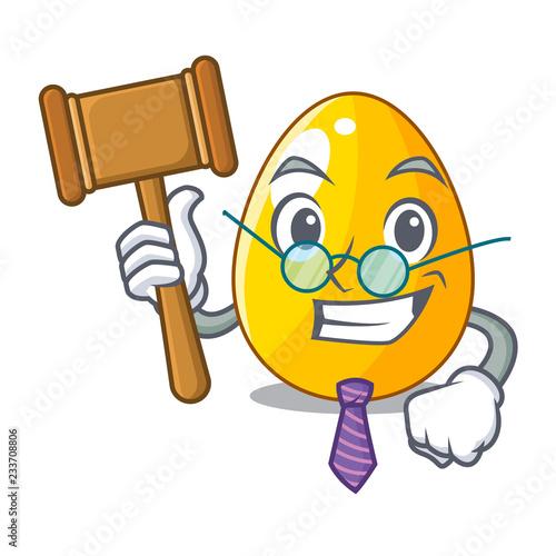 Fotografia, Obraz  Judge golden egg with cartoon shape reflection