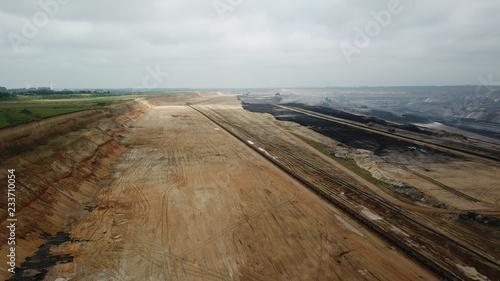 Spoed Foto op Canvas Zuid-Amerika land Luftaufnahme vom Braunkohleabbau